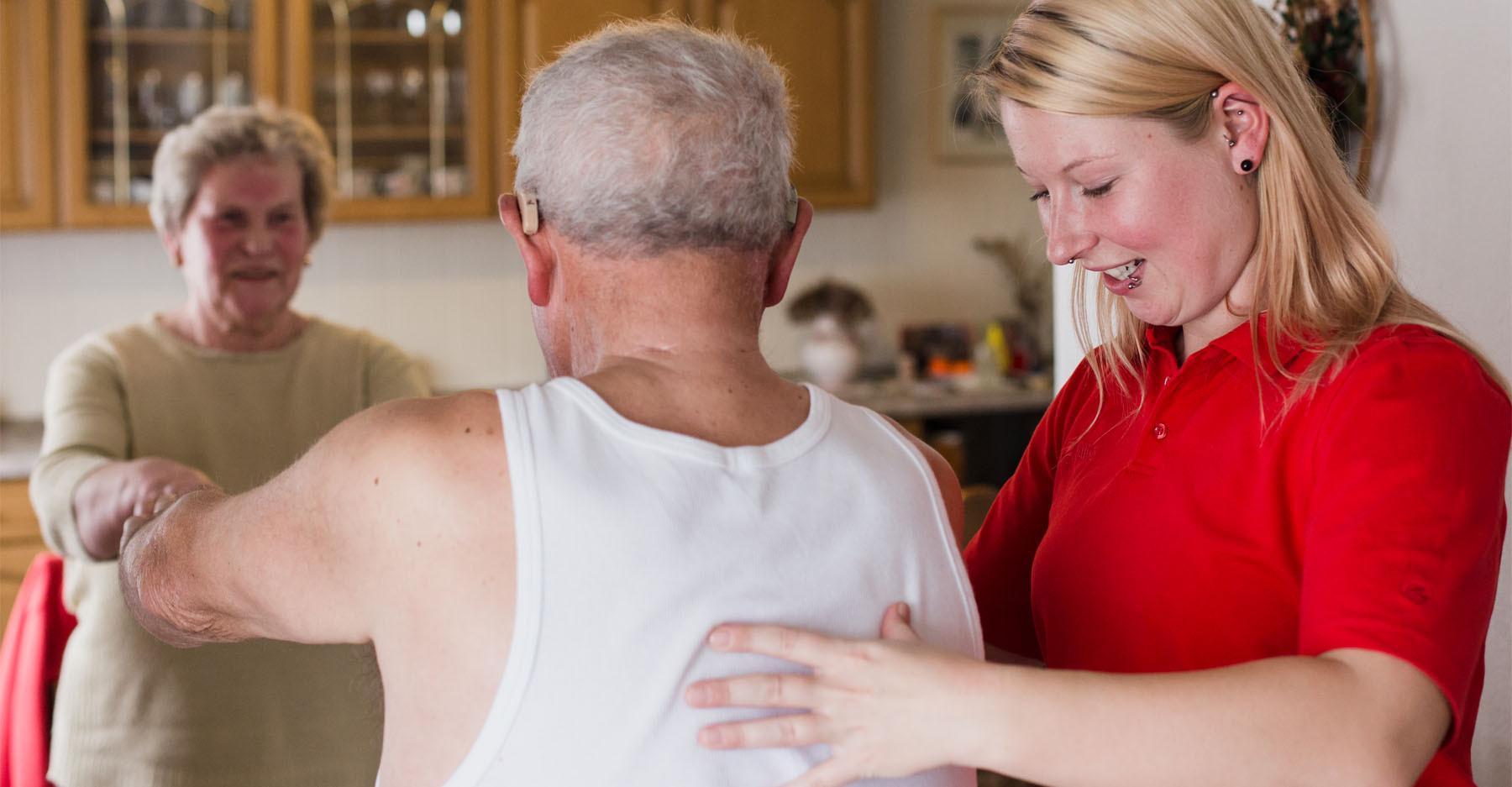 Hauskrankenpflege Dori Haltungsübung